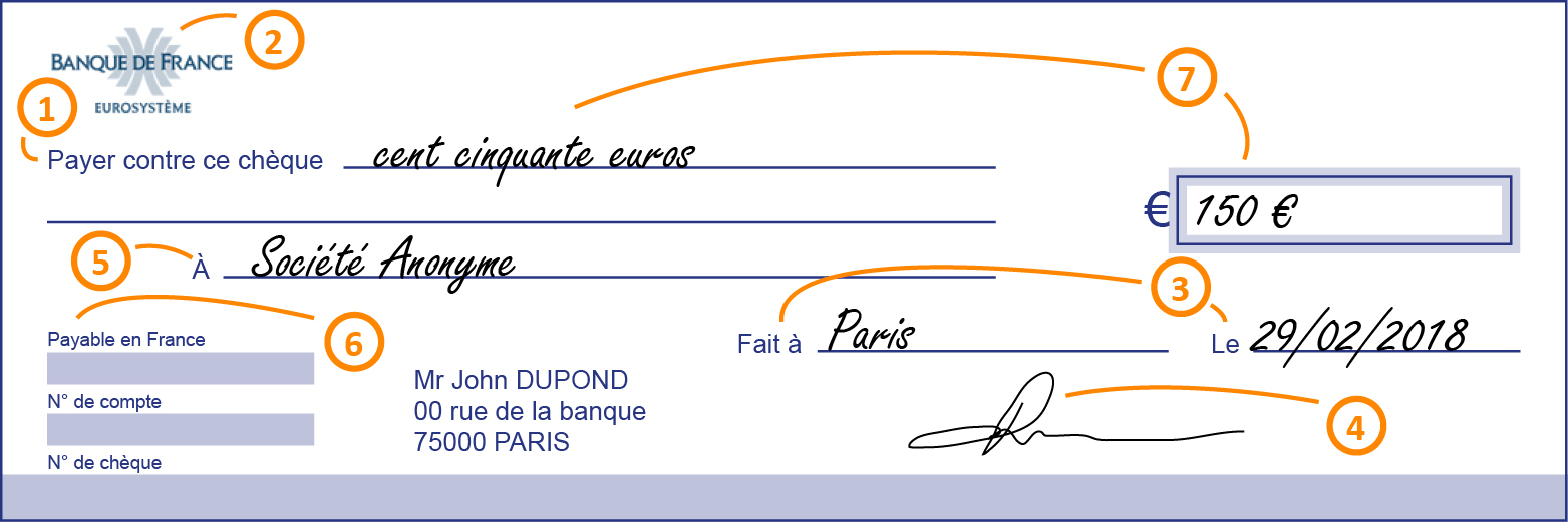 Cheque Banque De France